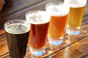Biervielfalt am Beispiel von 4 Bierproben
