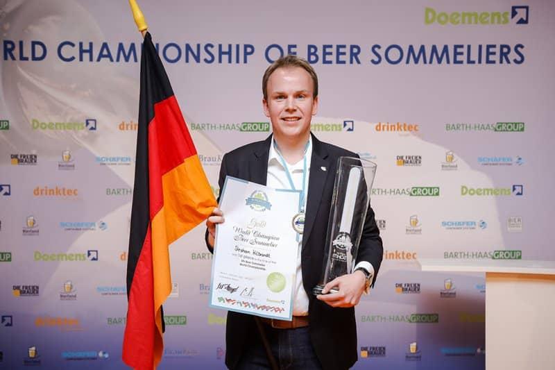 Foto des Weltmeisters der Biersommeliers 2017, Stephan Hilbrandt